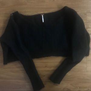 Cropped Free People Wool Sweater